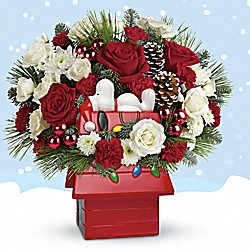 Send Christmas Cheer with Peanuts and Teleflora