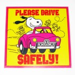 Snoopy and Woodstock Driving Sticker
