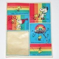 Rainbow Snoopy & Woodstock Stickers