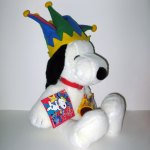 Snoopy the Jester Plush Toy with Horn