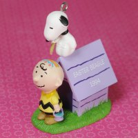 Snoopy Drawing on Charlie Brown Easter Ornament
