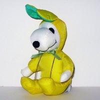 Snoopy yellow & green Easter Beagle Satin Plush