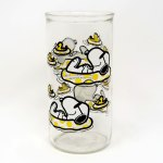 Snoopy & Woodstock in Pool Jelly Jar Glass