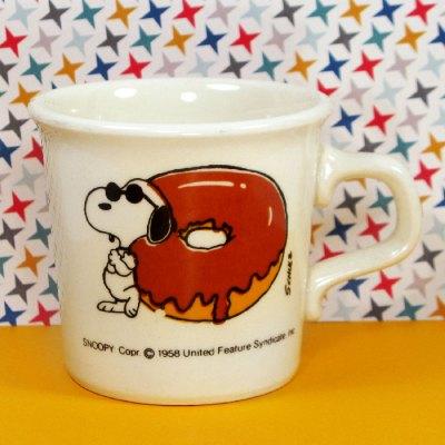 Snoopy Joe Cool Donut Mug