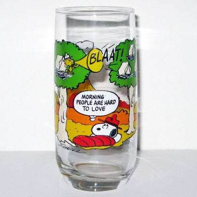 Snoopy Morning People McDonald's Camp Snoopy Glass