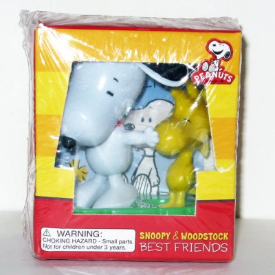 Snoopy & Woodstock Best Friends Figurine and Book