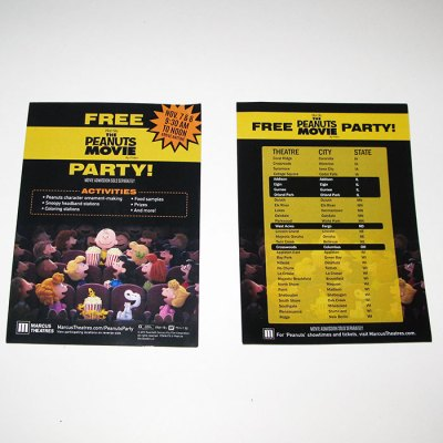 The Peanuts Movie Promotional Sheet