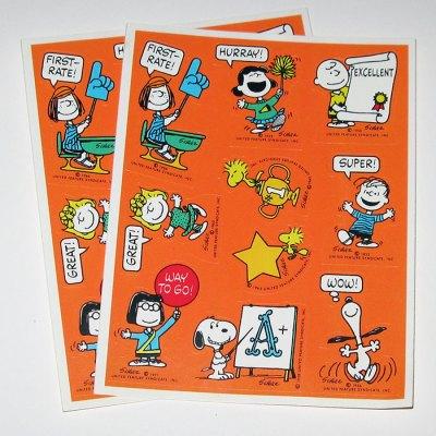 PEANUTS stickers reward teacher Snoopy Charlie Brown Linus Lucy Marcie Woodstock