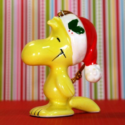 Woodstock standing wearing stocking cap Ornament