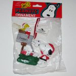 Santa Snoopy and Woodstock Mailbox Christmas Ornament