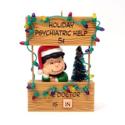 Lucy Psychiatrist's Booth Christmas Ornament