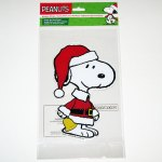 Santa Snoopy Window Gel Cling