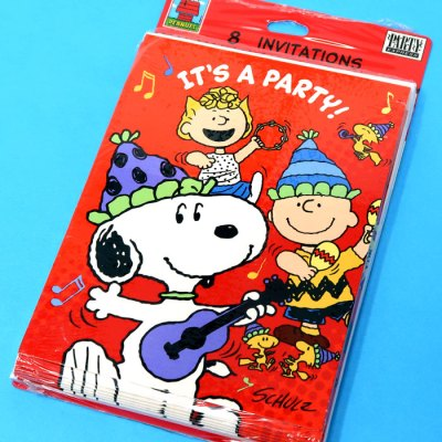 Peanuts Party Invitations