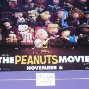 The Peanuts Movie Poster and Charles Schulz's Signature