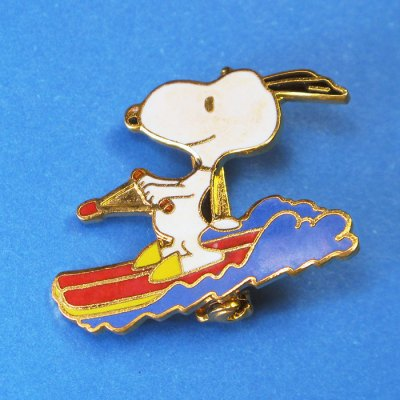 Snoopy Waterskiing Pin