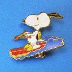 Snoopy Waterskiing Pin