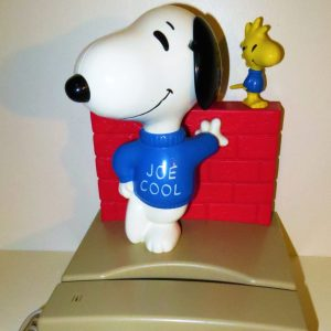 Snoopy Joe Cool Telephone with Woodstock