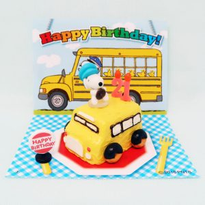 Snoopy School Bus Driver Birthday Cake