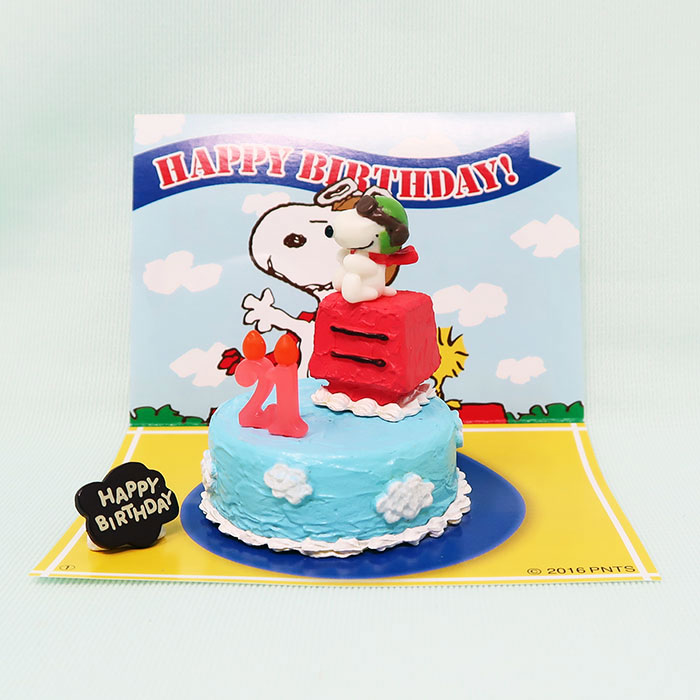Excellent Snoopy Flying Ace Birthday Cake Collectpeanuts Com Funny Birthday Cards Online Alyptdamsfinfo