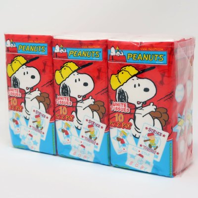 Peanuts White Tissues Six Pack