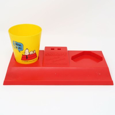 Snoopy Brusha Brusha Toothbrush Base and Cup