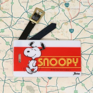 Dancing Snoopy Luggage Tag