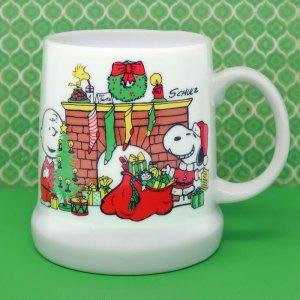 Peanuts 1978 Christmas Stein