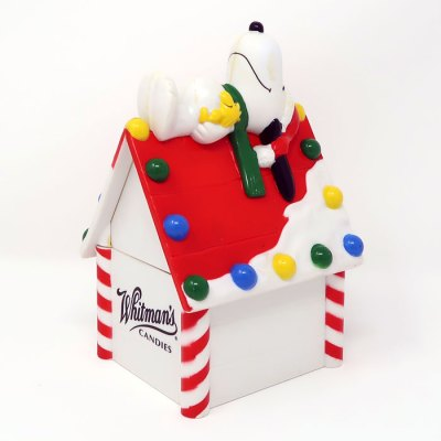 Snoopy on decorated doghouse Christmas Bank