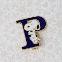 Snoopy climbing the letter P Pin