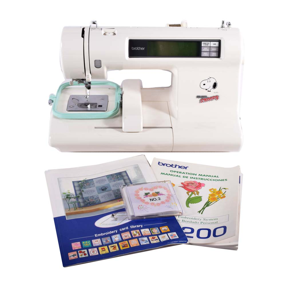 Brother PE200 Snoopy Embroidery Machine - CollectPeanuts com