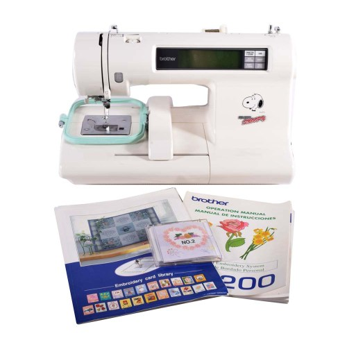 Brother PE200 Snoopy Embroidery Machine - CollectPeanuts.com