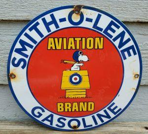 Snoopy Smith-O-Lene Sign