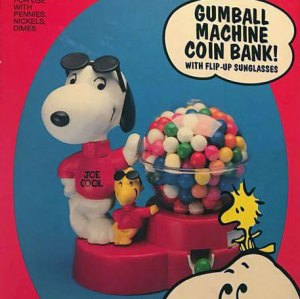 Snoopy Gumball Machine Coin Bank
