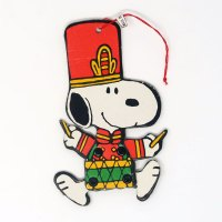 Snoopy Toy Solider Playing Drum Jointed Ornament