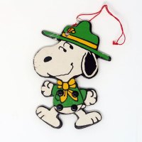 Snoopy Beagle Scout Leader Jointed Ornament