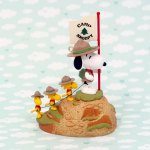 Snoopy & Beaglescouts climbing Mountain Christmas Ornament