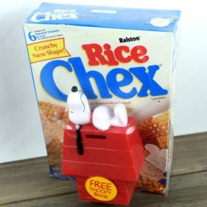 Chex Cereal Snoopy Bank