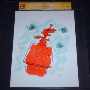 Snoopy Illustration by Shultz