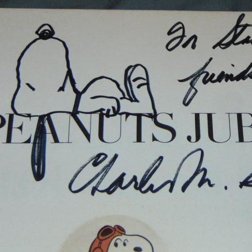 Original Schulz Snoopy Drawing