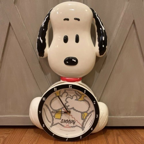 Figural Snoopy Wall Clock