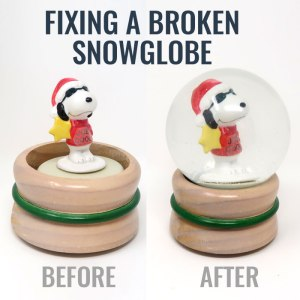 Fixing a Broken Snow Globe