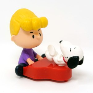 Schroeder and Snoopy at Piano Happy Meal Toy