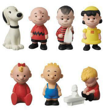 Medicom Line-up of Peanuts Hungerford Reproductions