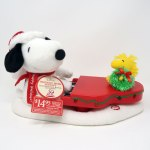 Snoopy playing piano with Woodstock Plush by Hallmark