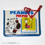 Snoopy kissing Peppermint Patty Peanuts Memo set