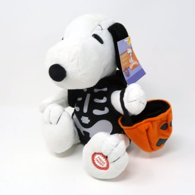 Snoopy Skeleton Halloween Plush