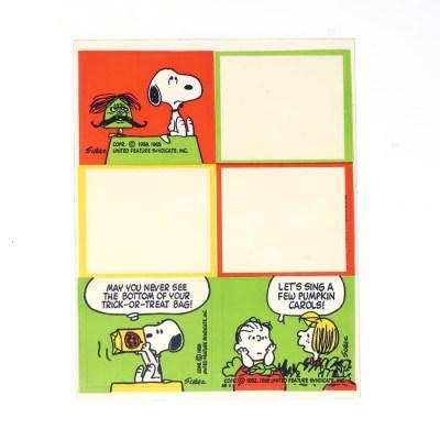 Peanuts Halloween Sticker Sheet