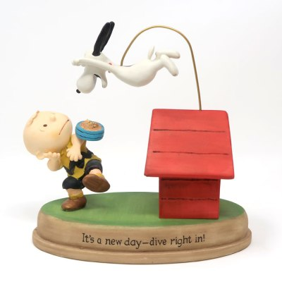 Charlie Brown and Snoopy Supper Figurine