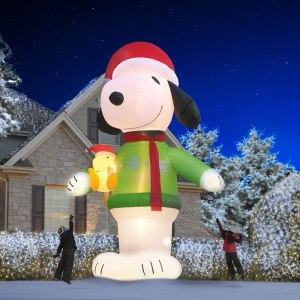 Peanuts Christmas decor from Hammacher Schlemmer