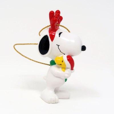 Snoopy Reindeer hugging Woodstock Ornament